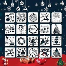 Christmas Stencils. DIY Decor Craft Scrapbook Wall Glass Wood Fabric. Pack of 20