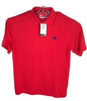 Cutter & Buck New York Giants DryTec Mens Polo Shirt Short Sleeve Red Size Large