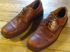Ecco Mens Sz 11 Dress Shoes Vegetable Tanned, Arch Support, Comfort Fibre System