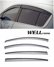 For 15-UP Kia Forte5 Hatchback WellVisors Side Window Visors W/ Black Trim