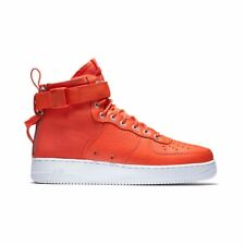 hot sales 999a4 592d9 Mens Nike Special Field Air Force 1 Mid Team Orange White 917753-800 US 9.5