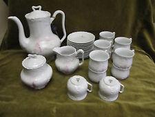 Service à café porcelaine limoges Tharaud Marisque Sevres (porcelain coffee set)