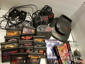 Atari Jaguar CD Console System With 15 Games and Memory Track Tested And Working