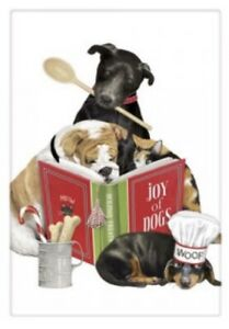 Flour Sack Kitchen Dish Towel Holiday Pet Chefs Mary Lake - Thompson New