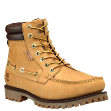 New Timberland Mens Oakwell 7 Eye Moccasin Toe Wheat Leather Boot Size 10.5
