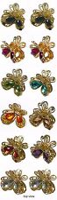 Bella Dz Pk 12 Mini Butterfly Jaw Claw  Hair Clips, Gold Tone,  U864175-1570-D
