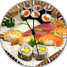 Japanese Sushi Frameless Borderless Wall Clock Nice For Gifts or Decor Y84