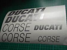 3 x DUCATI CORSE side fairing panel vinyl stickers decals