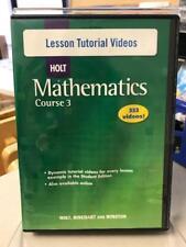 Holt Mathetmatics Course 3 Lesson Tutorial Videos (333 videos) on CD-ROM