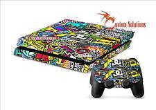 PS4 Console & Controller Decalcomania Adesivo SKIN Set-Adesivo Bomb Hoonigan UK STOCK