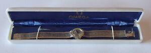 "Vintage Omega? ladies cased watch .89"" diamond set 18k 0.750 women's wristwatch"