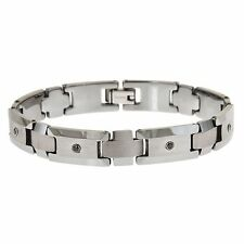 Tungsten Carbide Diamond Bracelet - NEW Two Tone Style  ENERGY Collection