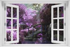 3D Wandillusion Wandbild FOTOTAPETE Fensterblick Landschaft Natur - kr-66