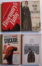 1962-1968 Four Paperback Books ROSEMARY'S BABY, Stockade, Twelfth Night, etc.