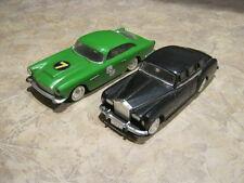 2 Old Toy Cars - Ideal Motorific - 1964 - Rolls Royce sedan - Aston Martin coupe