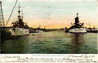 Vintage Postcard - Posted 1907 View Of Navy Yard  Brooklyn New York NY #4148
