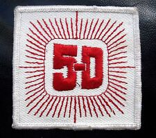 "5~D EMBROIDERED SEW ON ONLY PATCH  3"" SQUARE"
