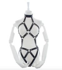 Womens Sexy Leather Body Harness Restraint Fetish Costume Bondage N21