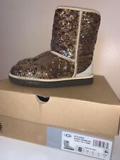 UGG Classic Short Boot Sparkles Champagne Womens Size 8 - 1018571