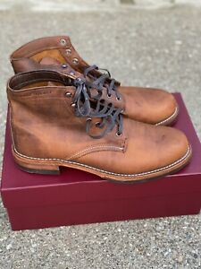 Wolverine Evans 1000 Mile Boots Brown Leather Mens Size 11 D Lace Up 40049