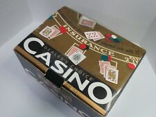Casino Dealers Choice Poker Set Table Cover Cards Chips Card Shoe Unused In Box