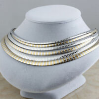 6Pcs//Lot Wholesale Women/'s Stainless Steel Chunky Collar Choker Chain Necklaces