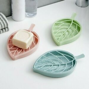 Bath Shower Holder Dish Hiking Container Soap Box Leaf Shape Case Home Organizer