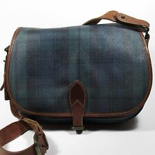 Polo Ralph Lauren Vintage Women's Saddle Bag Blackwatch Tartan Pattern
