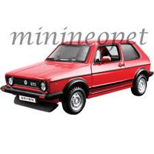 BBURAGO 18-43205 CLASSIC 1979 VW VOLKSWAGEN GOLF MK1 GTI 1/32 DIECAST CAR RED