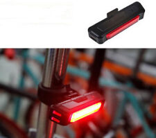 red rear rechargeable cob LED bike light set for mountain road bikes bicycles UK