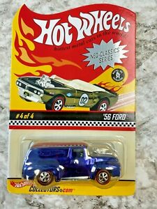 Hot Wheels Redline RLC 56 Ford Blue Chrome Spectraflame Adult Collectors Toy