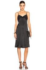 NWT $495  RAG & BONE 'Evelyn'  Silk Slip Dress Black 8