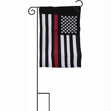 "12x18 Embroidered USA Fire Dept Red Line 600D Sleeved Garden Stand 12""x18"" Flag"
