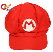 Nintendo Super Mario Hat Mario Red Custume Cosplay Cap