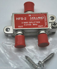2-WAY COAX SPLITTER HOLLAND HFS-2 5-2150Mhz DISH NETWORK APPROVED HOPPER & JOEY