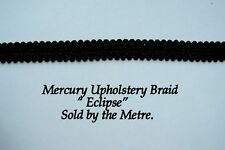 """Black Upholstery Braid """"Mercury Eclipse"""" 15mm wide (sold by the Metre)"""