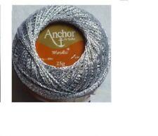 Crochet yarn Anchor Artiste Metallic 25 g silver color 301 kg