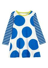GIRLS KIDS MINI BODEN LONG SLEEVE SPOTTY SWING DRESS & TIGHTS AGE 4 - 5 Y YEARS