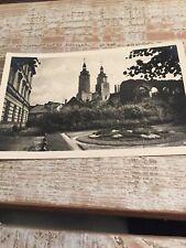 AK Jägerndorf Parkring Post gelaufen ca. 1938 Sudetenland
