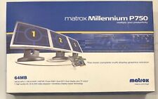 New Matrox Millennium P750 64MB AGP Video Card w/ Cables and Drivers