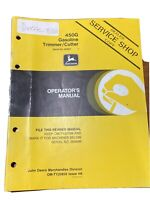 John Deere 450G Gasoline Trimmer/Cutter Operator's Manual
