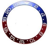 Ghiera Rolex GMT effetto ceramica inserto rosso blu aftermarket pepsi 126719BLRO
