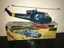 Vintage MARX CHOP CHOP HELICOPTER In BOX Battery Op US AIR FORCE Toy 1966 WORKS