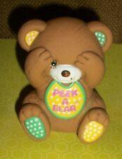 "3"" Vintage Brown Gerber ""Peek A Bear� Squeak Rubber Toy green yellow"