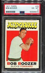 1971-1972 Topps Basketball #43 BOB BOOZER Milwaukee Bucks PSA 6 EX-MT