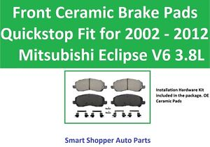 Front Ceramic Brake Pads Fit 2006 2007 2008 2009 2010 2011 Mitsubishi Eclipse V6