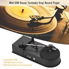 Mini USB Turntable Vinyl Record Player 2-Speed(33/45 RPM) MP3/ WAV Function B0L9