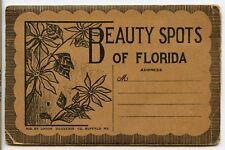VINTAGE Old Souvenir View Folder ~ BEAUTY SPOTS of FLORIDA ~ 22 DIFFERENT SPOTS