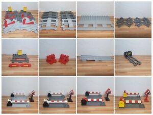 Lego Duplo Schienen und Zubehör Weichen Kreuzung Prellblock Bahnübergang Bahnhof