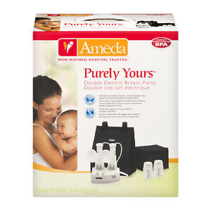 NEW Sealed Ameda Purely Yours Double Breast Pump With Bag & Small Cooler NIB